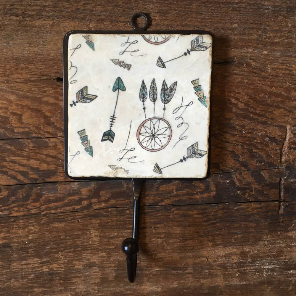 studio vertu studio vertu tile hooks arrows & feathers