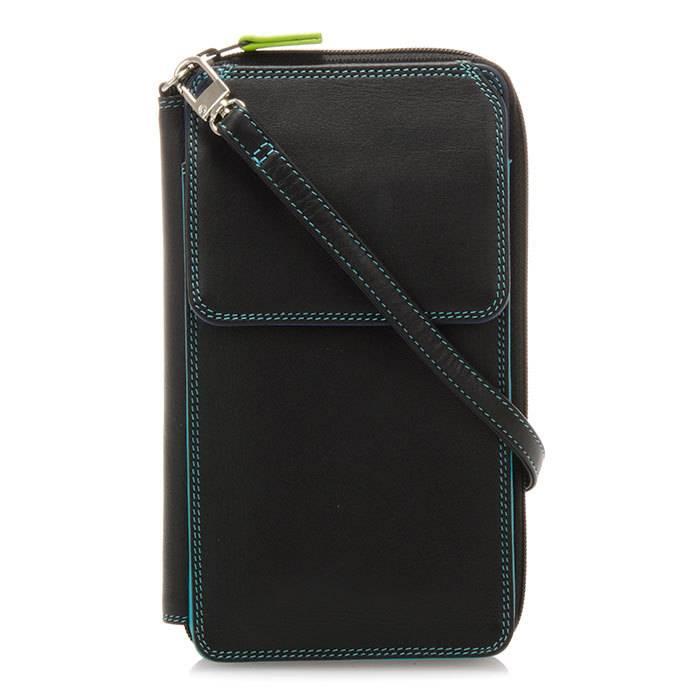 mywalit mywalit zip round multi purse w/strap