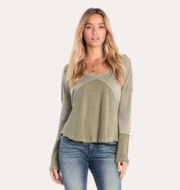 miss me missme knit criss cross back babydoll top sage green