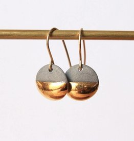 mier luo mier lou gold dipped flat circle earrings