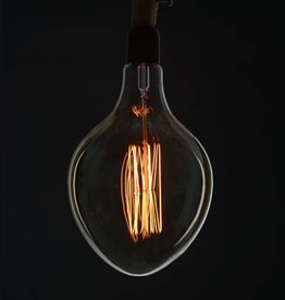 "american design club american design club 8"" x 12"" egg shaped edison filament bulb"