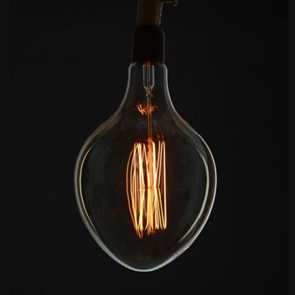 "american design club 8"" x 12"" egg shaped edison filament bulb"