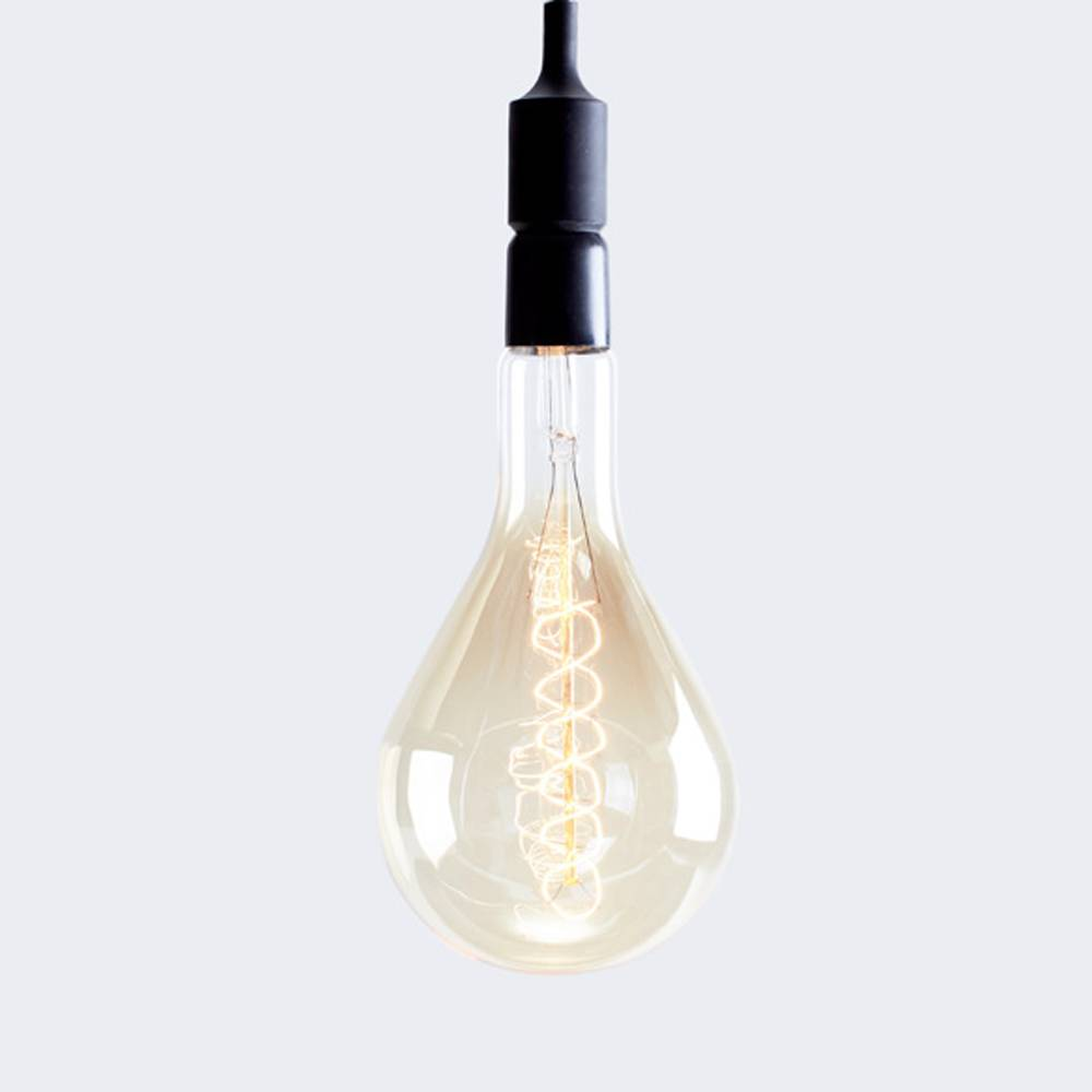 "american design club 7"" x 12"" swirl filament teardrop bulb"
