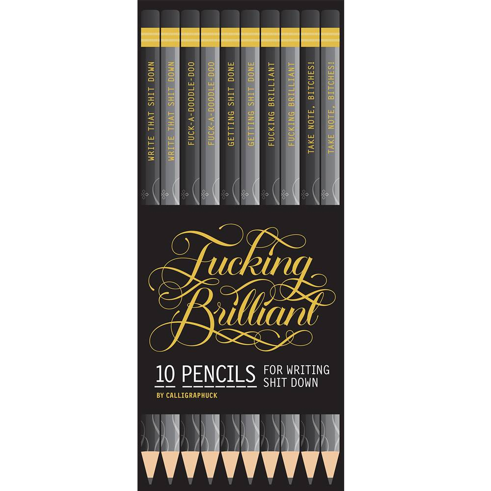 chronicle books fucking brilliant pencils