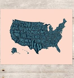 haven paperie haven paperie usa map print
