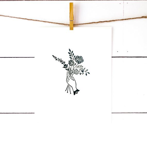richelle bergen the florist block print