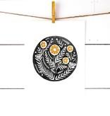 richelle bergen floral motif block print