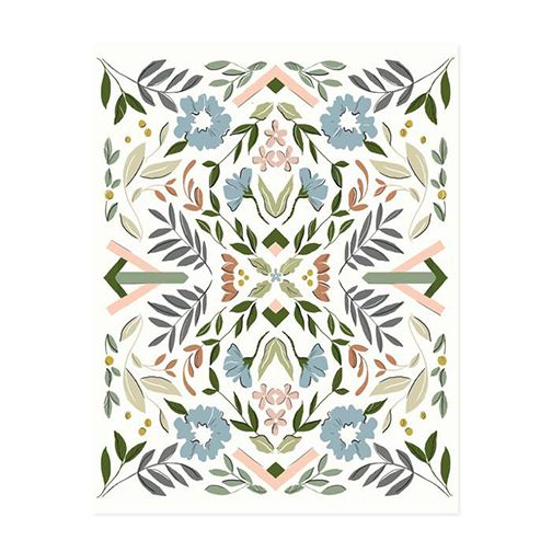 amy heitman amy heitman geo floral no. 2 art print