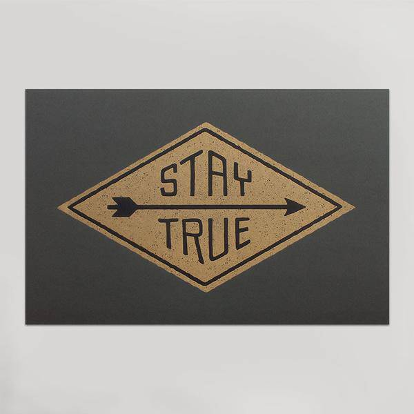 hammerpress hammerpress stay true art print