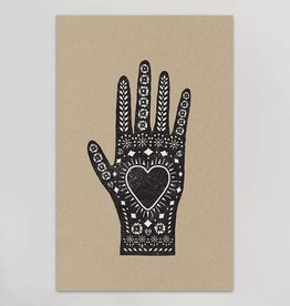 hammerpress hammerpress heart in hand art print
