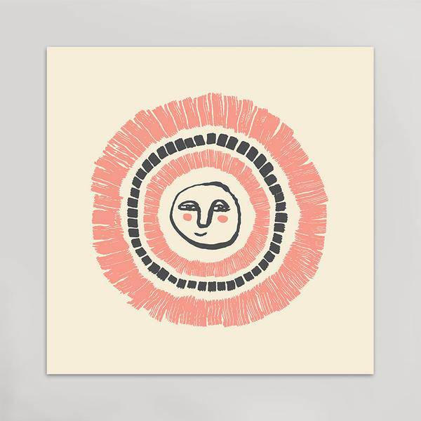 hammerpress hammerpress happy human art print
