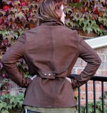 jakett jakett amy nubuck jacket in gingersnap