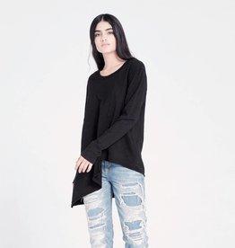 wilt wilt crew neck slant tunic black