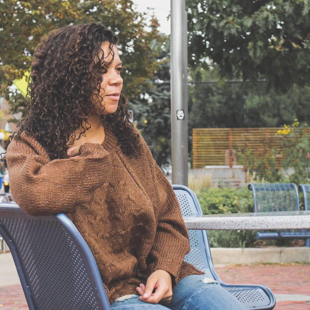 hem & thread hem & thread zipper sprinkled dolman sweater brown multi