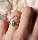 gem and blue gem and blue diamond opal ring