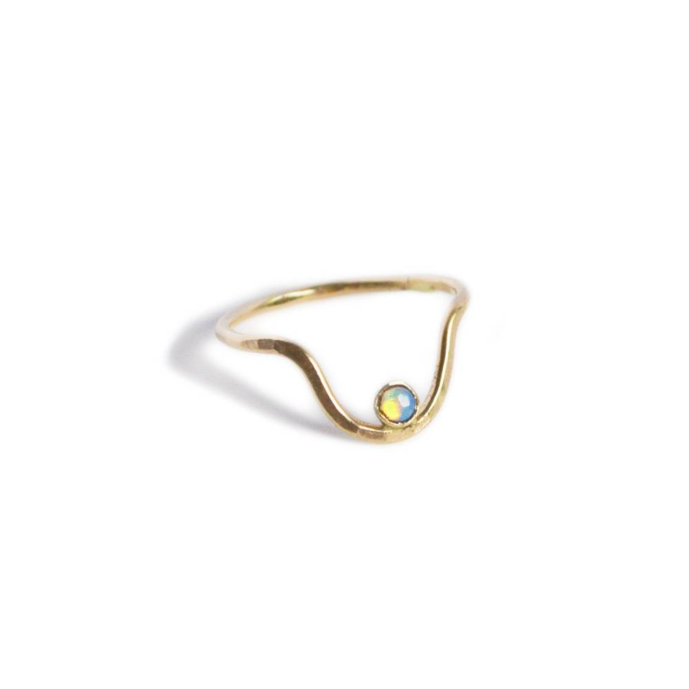 gem and blue gem and blue centered opal ring