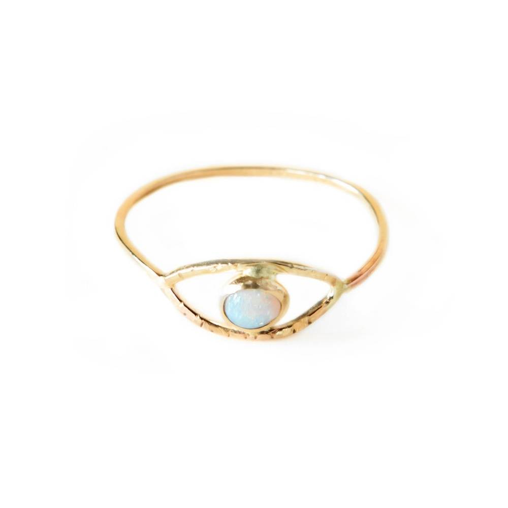 gem and blue gem and blue opal eye ring