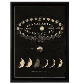 capricorn press capricorn press moon phases art print