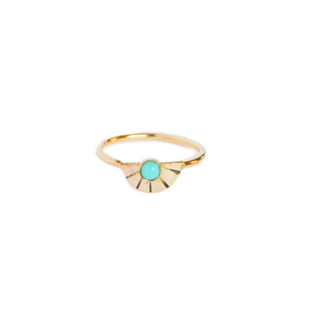 gem and blue gem and blue arc turquoise ring