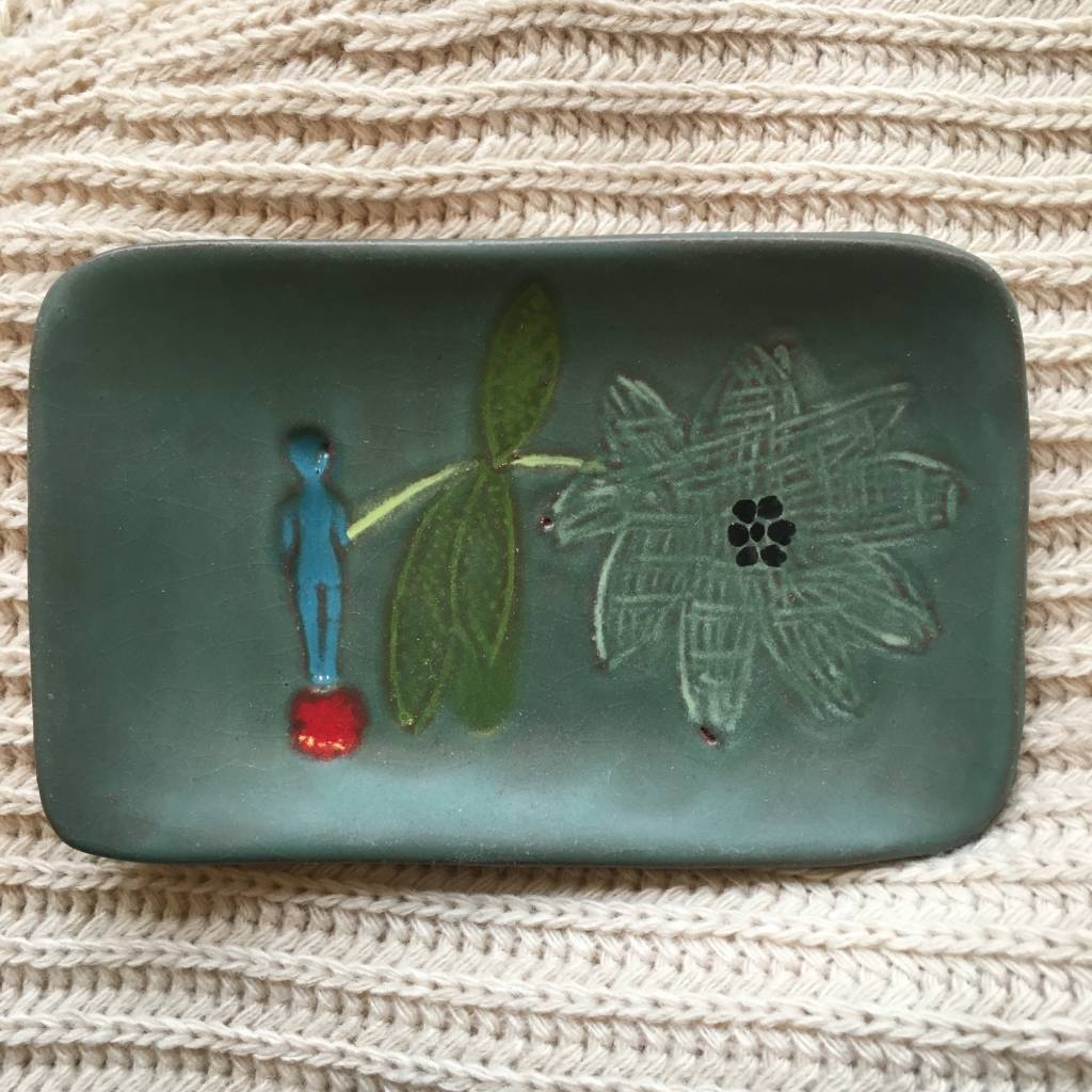 lisa neimeth small rectangle plate green