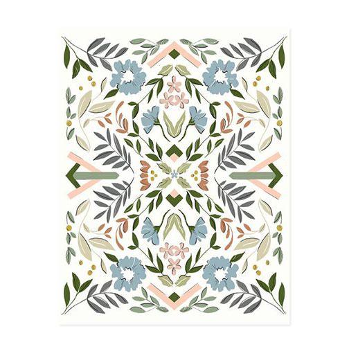 amy heitman amy heitman geo floral no. 2 art print