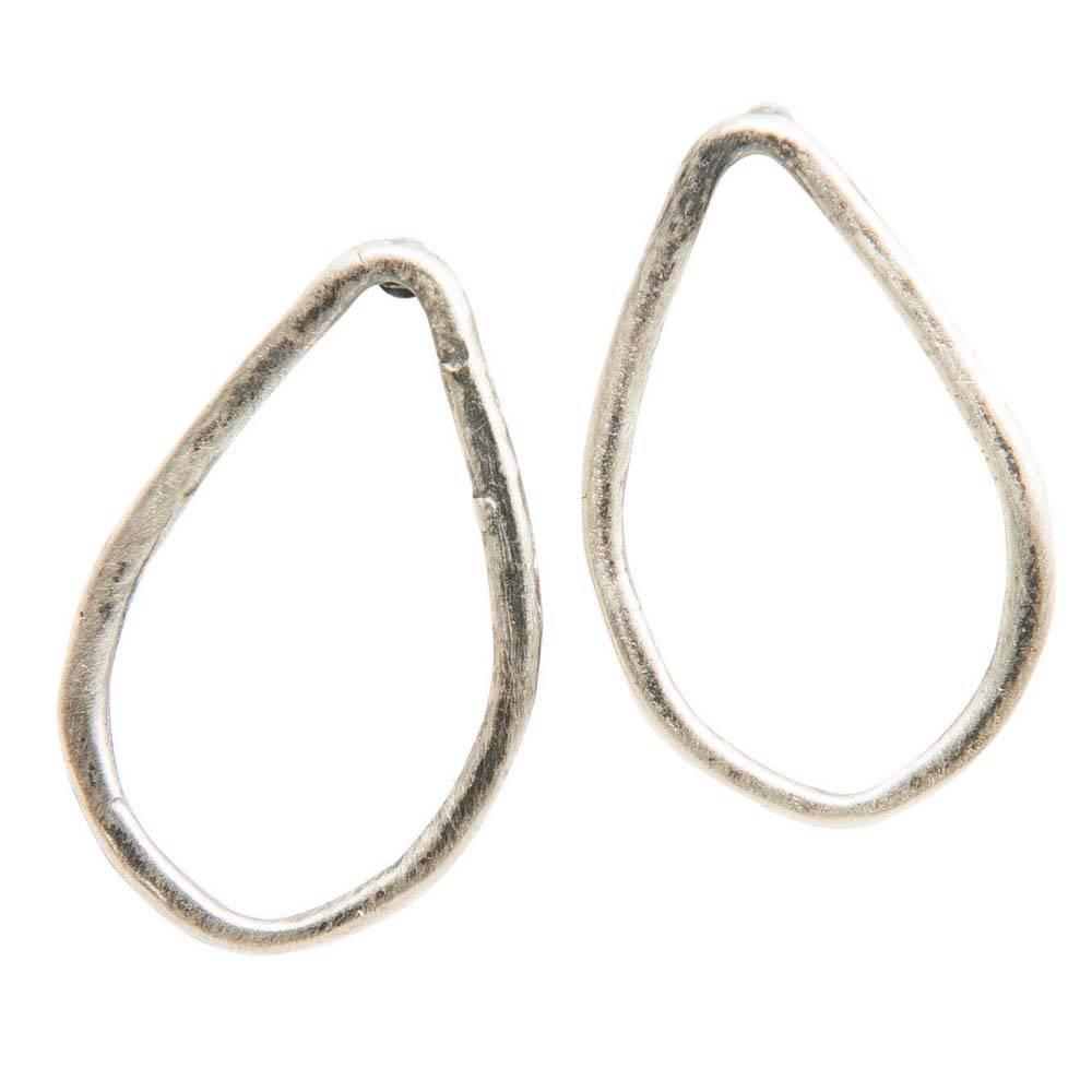 original hardware original hardware sterling silver teardrop stud earrings