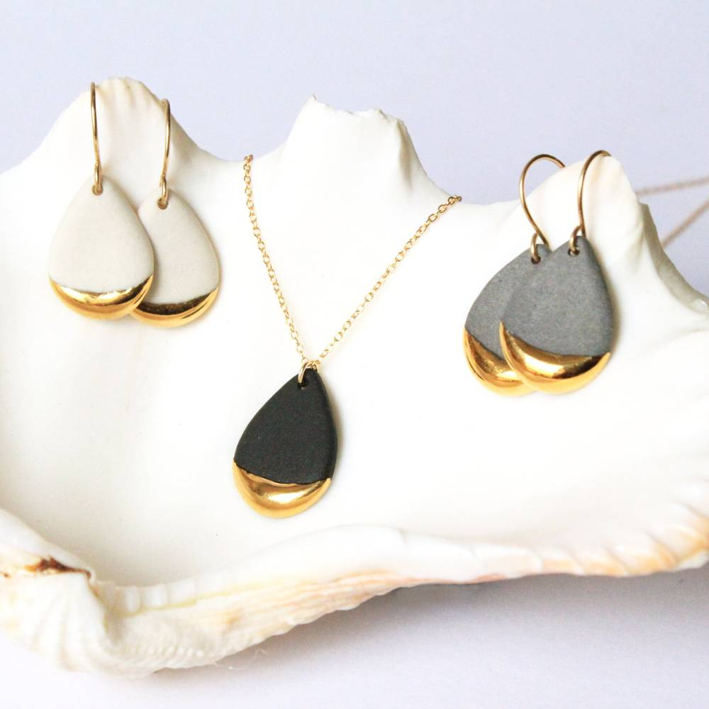mier luo mier lou gold dipped teardrop necklace
