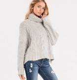 miss me miss me turtle neck cropped sweater