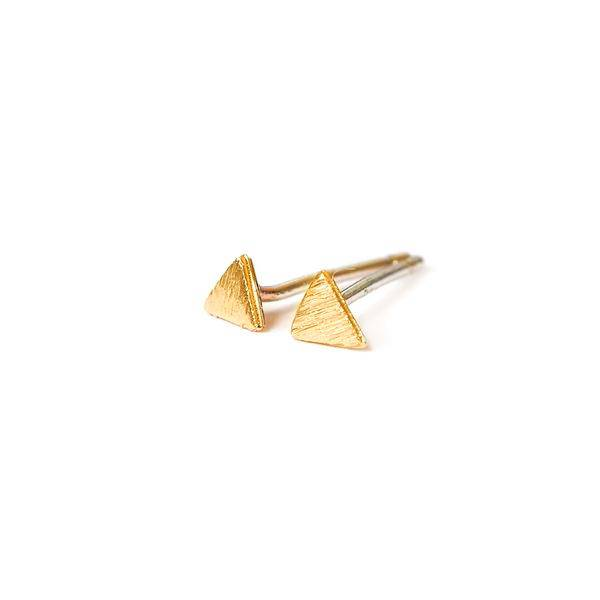 adorn512 triangle stud earrings