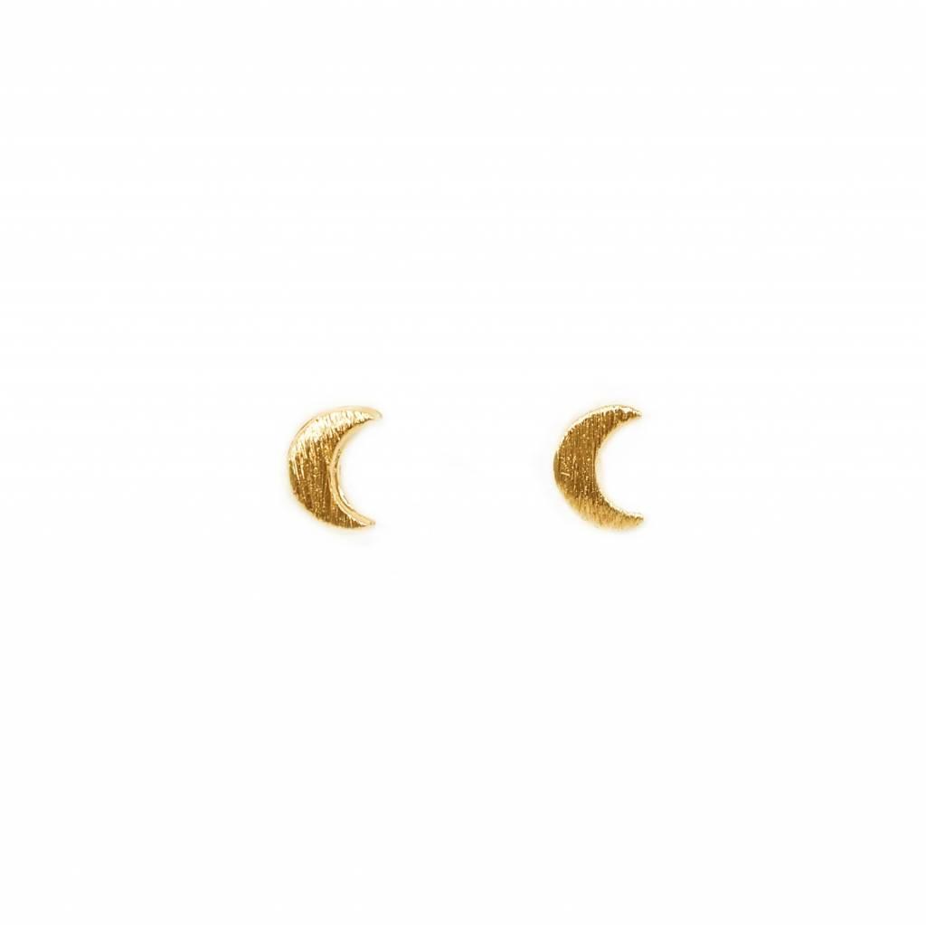 adorn512 moon stud earrings