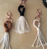 cait quinn magnolia weavings tassel key chains small