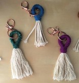 cait quinn magnolia weavings tassel key chains small