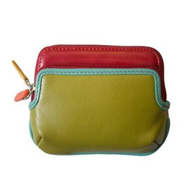 intercontinental leather (IL) ili mini purse w/ 2 zip pockets