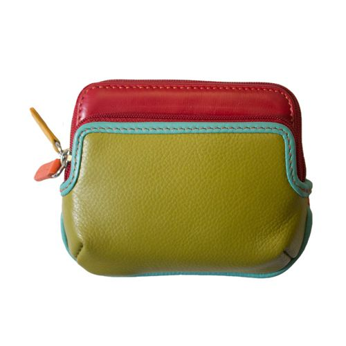 intercontinental leather (IL) ili mini purse w/ 2 zip pockets