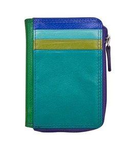 intercontinental leather (IL) ili credit card holder w/ zip coin purse