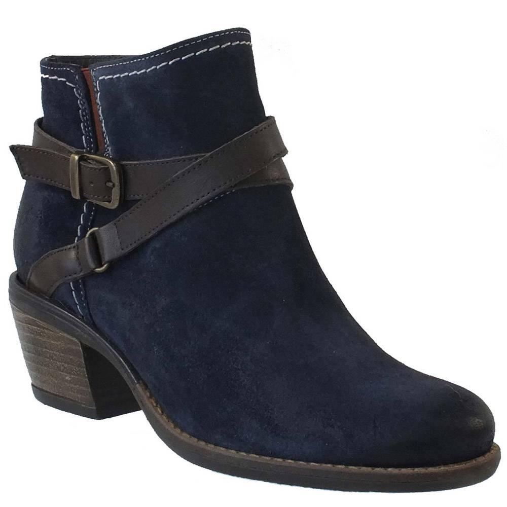 bos & co greenville deep blue booties