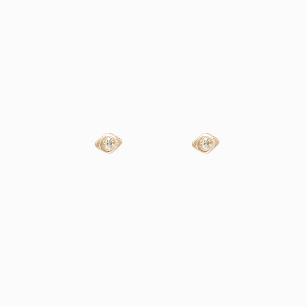 sophie ratner triangle orbit stud post earrings