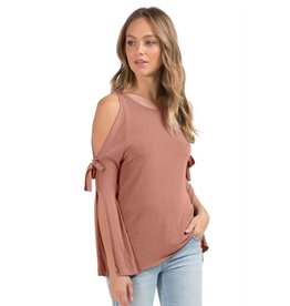 elan elan top w/ open sleeves salmon
