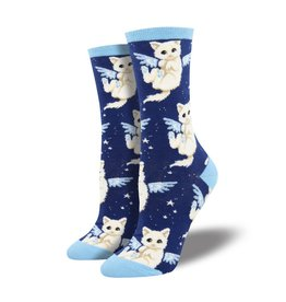 socksmith socksmith purrfect angel navy