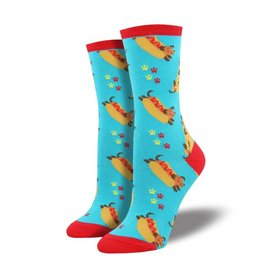 socksmith socksmith wiener dog blue