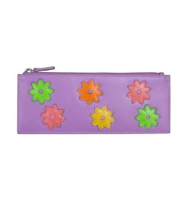 intercontinental leather (IL) ili flower power cc holder w/ zip pocket