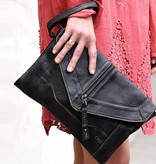 bed stu bed stu oretta oversized clutch black rustic