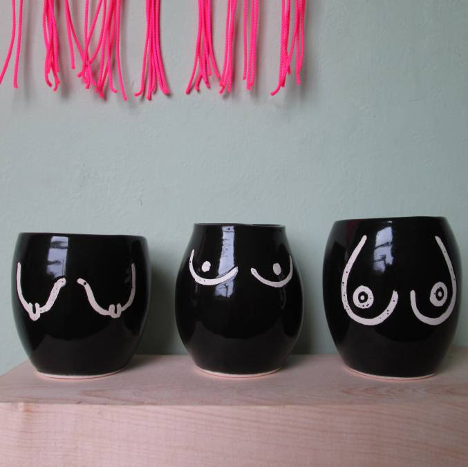 e.f. ceramics e.f. ceramics lovely breasts pots