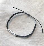sugarboo sugarboo braided bracelet slate
