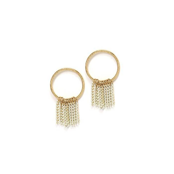 lover's tempo lover's tempo olympia fringe hoop earrings