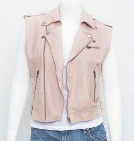 jakett jakett jilli moto vest burnished leather petal