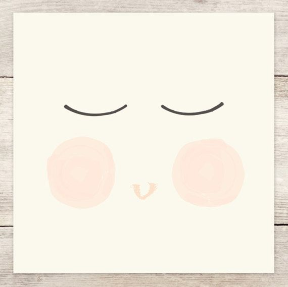 haven paperie haven paperie baby face art print