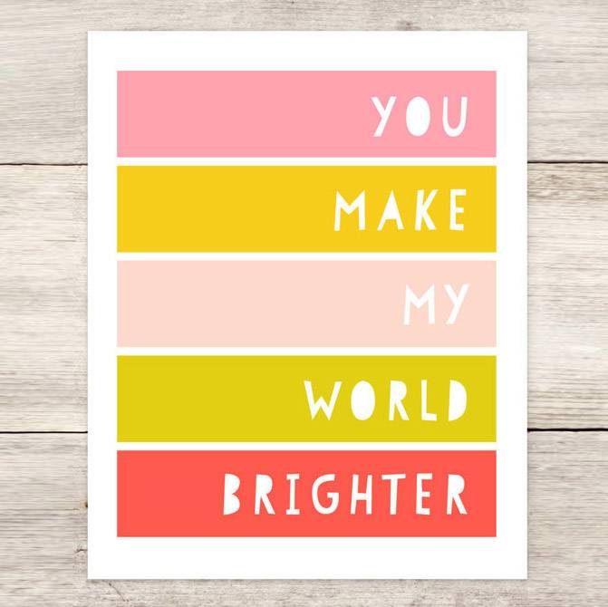 "haven paperie haven paperie brighter 11"" x 14"" art print"