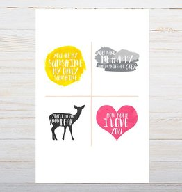 "haven paperie haven paperie you are my sunshine 11"" x 14"" art print"