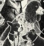 methane studios methane studios dogs waiting screenprint 18 x 24